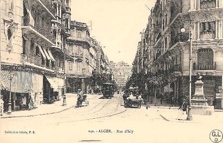 רחוב איזלי, אלג'יר, אלג'יריה. מכון בן-צבי, באדיבות ז'ראר לוי