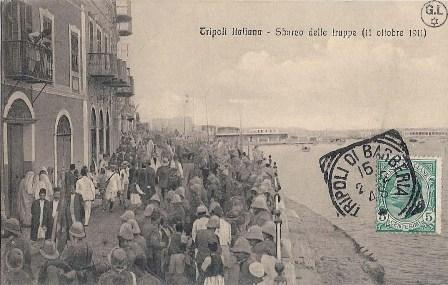 נחיתת הצבא האיטלקי בנמל טריפולי (11.11.1911), לוב. מכון בן-צבי, באדיבות ז'ראר לוי