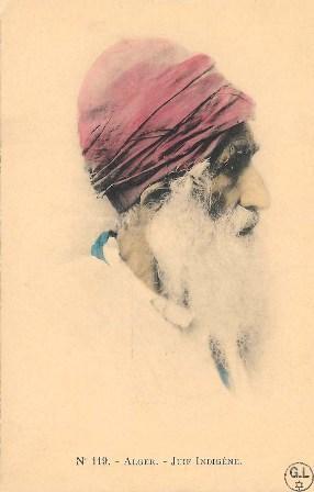 גבר יהודי טיפוסי, אלג'יר, לוב. מכון בן-צבי, באדיבות ז'ראר לוי