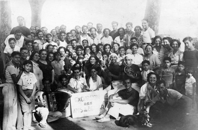 Membres du mouvement de jeunesse Beitar, Afrique du Nord, années 1940