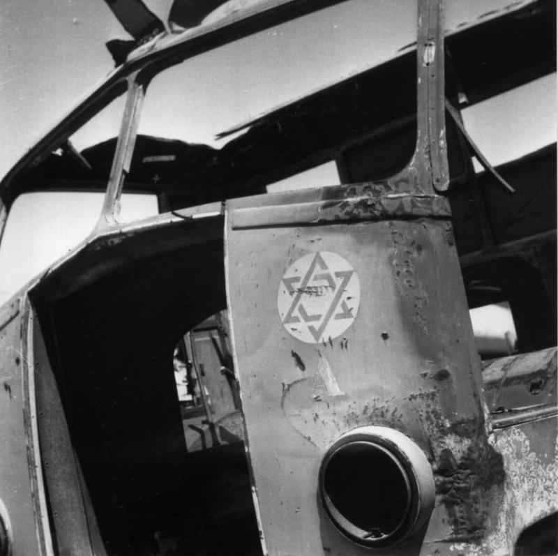 כלי תובלה של יחידה ארצישראלית הנושא מגן-דוד, טריפולי, 1943