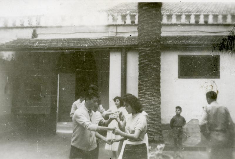 Margalit Gozlan in a youth movement, Constantine, Algeria, 1940s