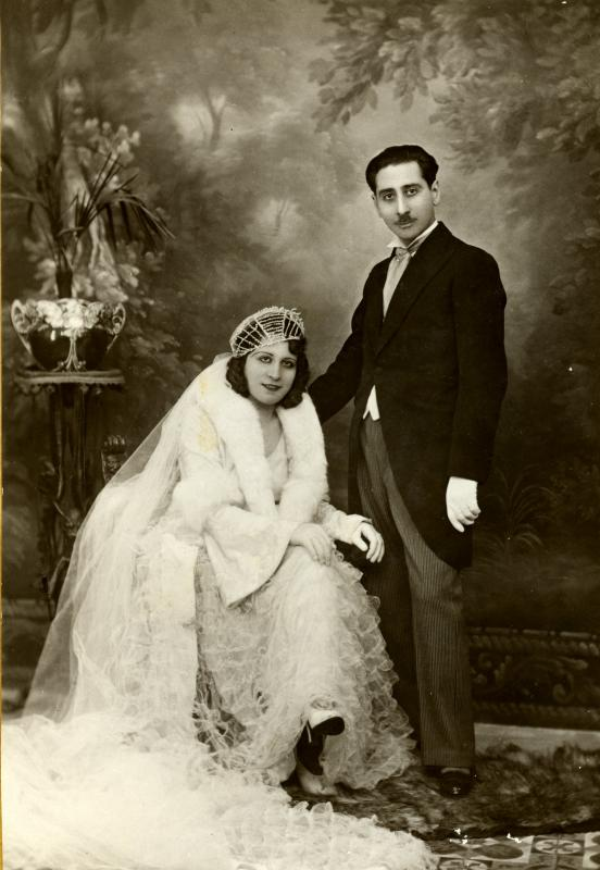 Joshua and Anna-Claude Gozlan on the day of their wedding, Constantine, Algeria, 1933