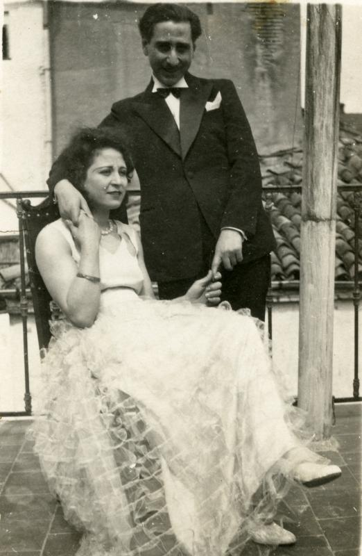 Joshua and Anna-Claude Gozlan on the day of their wedding, Constantine, Algeria, 1933.