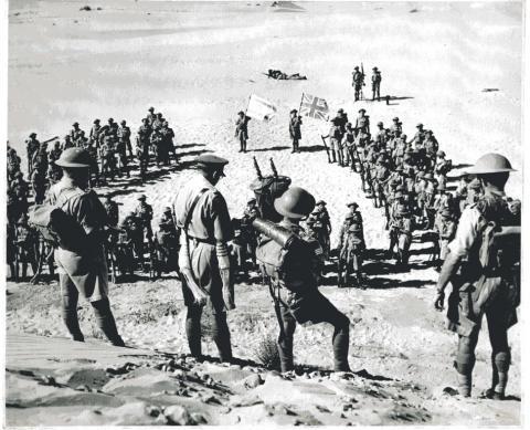 "<a href=""/he/2798"">חיילי פלוגת מכבי מתפללים לפני צאתם לקרב מול האויב הנאצי</a>"