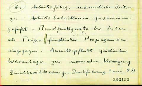 "<a href=""/en/2890"">Third page on Jewish Affairs, written by the German Consul in Tunis, Rudolf Rahn, 22.12.1942, Tunis</a>"